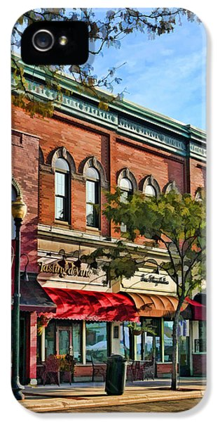 Main Street iPhone 5 Cases - Wheaton Front Street Stores iPhone 5 Case by Christopher Arndt