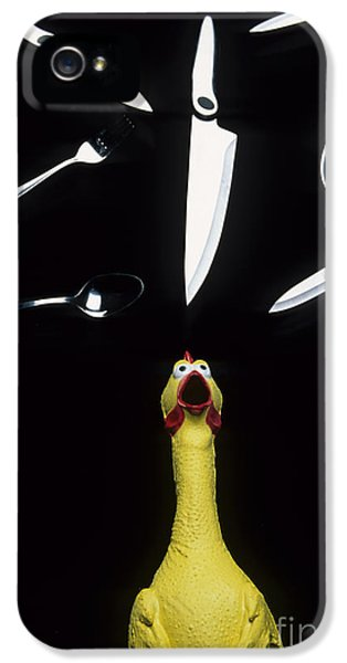 Bob Christopher iPhone 5 Cases - When Rubber Chickens Juggle iPhone 5 Case by Bob Christopher