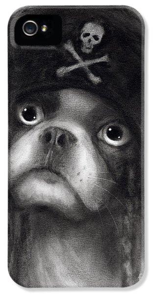 Whimsical Funny French Bulldog Pirate  IPhone 5 / 5s Case by Svetlana Novikova