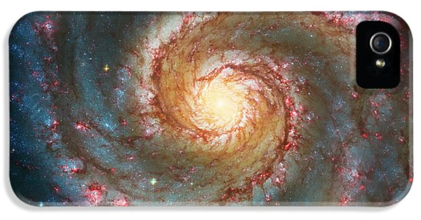 Space iPhone 5 Cases - Whirlpool Galaxy  iPhone 5 Case by The  Vault - Jennifer Rondinelli Reilly