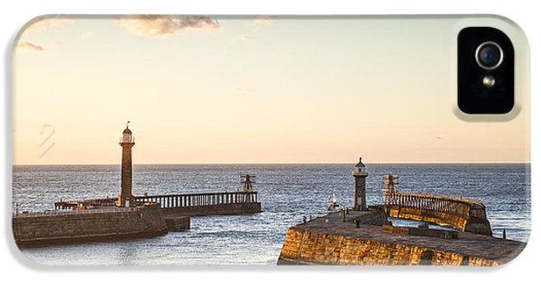 Harbour iPhone 5 Cases - Whitby Harbour North Yorkshire England iPhone 5 Case by Colin and Linda McKie