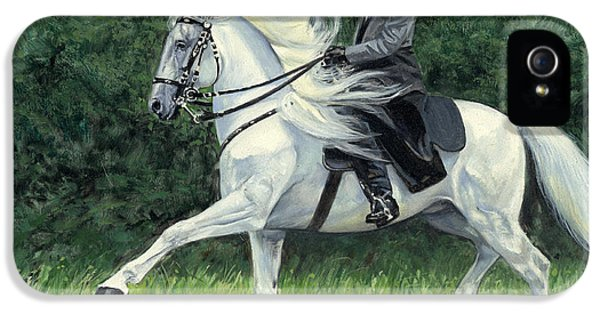 Andalusia iPhone 5 Cases - White Andalusia Flowing Mane iPhone 5 Case by Don  Langeneckert