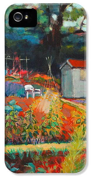 Allotment iPhone 5 Cases - White Chair iPhone 5 Case by Marco Cazzulini