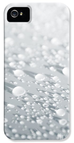 Washed iPhone 5 Cases - White Droplets iPhone 5 Case by Carlos Caetano