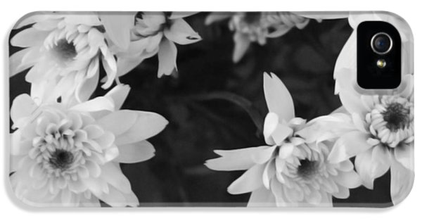 Bouquet iPhone 5 Cases - White Flowers- black and white photography iPhone 5 Case by Linda Woods