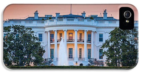 District Columbia iPhone 5 Cases - White House iPhone 5 Case by Inge Johnsson
