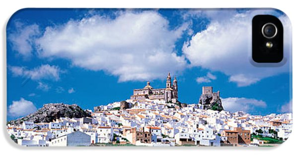 Andalusia iPhone 5 Cases - White Houses Andalusia Olvera Spain iPhone 5 Case by Panoramic Images