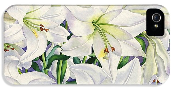 White Lilies IPhone 5 / 5s Case by Christopher Ryland