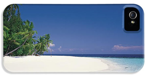 Indian Ocean iPhone 5 Cases - White Sand Beach Maldives iPhone 5 Case by Panoramic Images