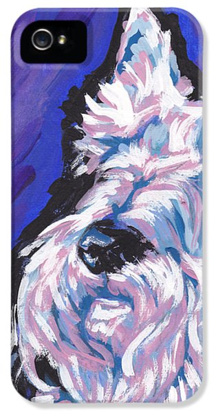 Scottie iPhone 5 Cases - White Scot iPhone 5 Case by Lea
