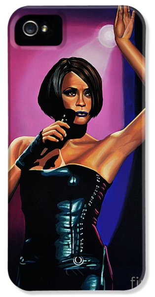 Glamour iPhone 5 Cases - Whitney Houston On Stage iPhone 5 Case by Paul Meijering