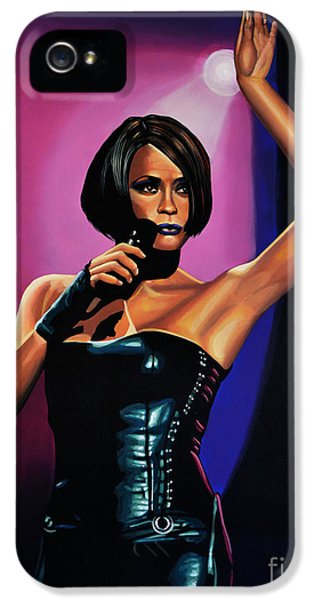 Wife iPhone 5 Cases - Whitney Houston On Stage iPhone 5 Case by Paul Meijering