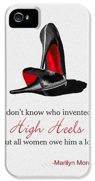 High Heel iPhone 5 Cases - Who Invented High Heels? iPhone 5 Case by Rebecca Jenkins