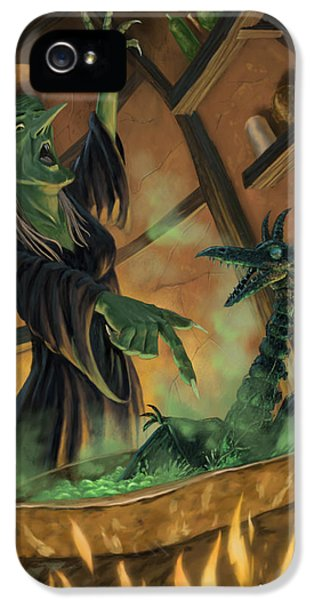 Witch iPhone 5 Cases - Wicked Witch Casting Spell iPhone 5 Case by Martin Davey