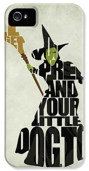 Character iPhone 5 Cases - Wicked Witch of the West iPhone 5 Case by Ayse Deniz