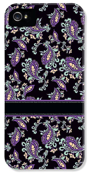 Stitch iPhone 5 Cases - Wild Purple Paisley iPhone 5 Case by Jenny Armitage