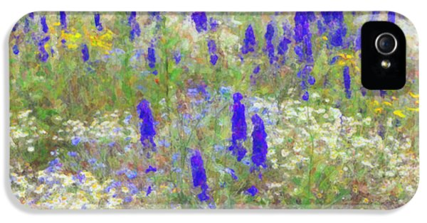 Eco iPhone 5 Cases - Wildflower Watercolour iPhone 5 Case by Tim Gainey