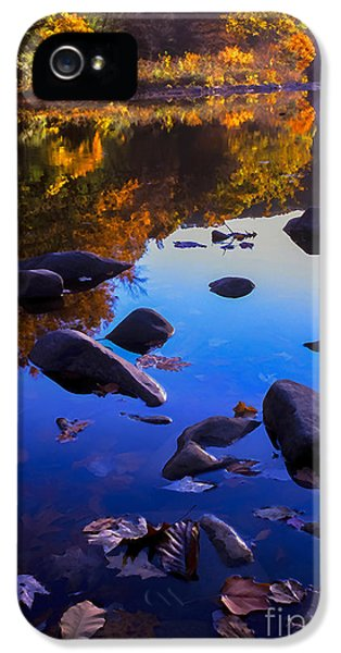 Baptize iPhone 5 Cases - Williams River Autumn Reverie iPhone 5 Case by Thomas R Fletcher