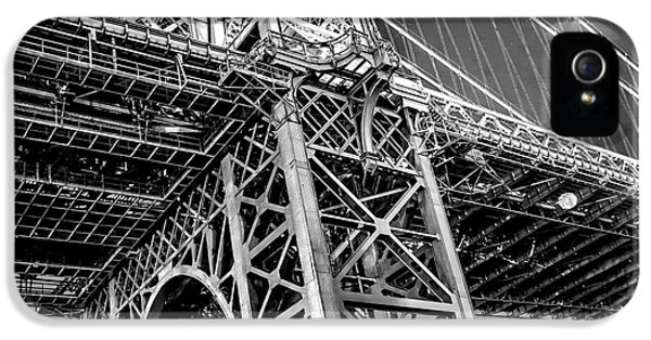 Hudson River iPhone 5 Cases - Williamsburg Bridge 5 iPhone 5 Case by Az Jackson