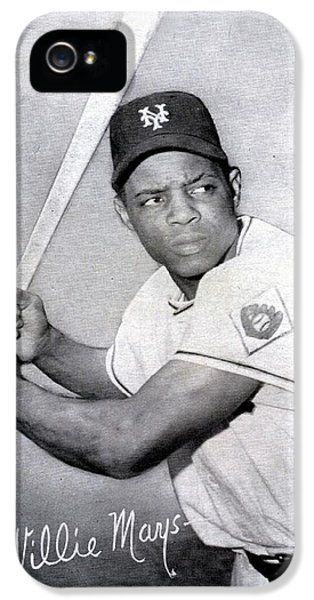 National League iPhone 5 Cases - Willie Mays  poster iPhone 5 Case by Gianfranco Weiss