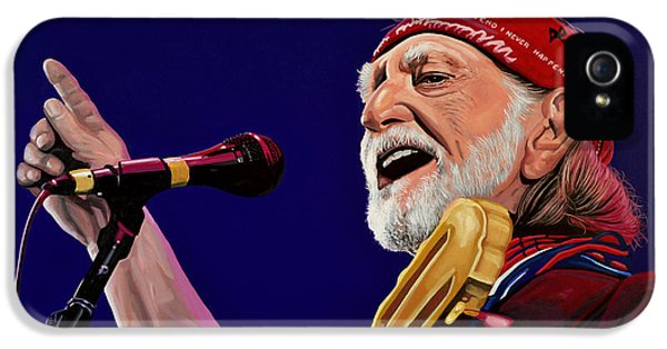 Spotlight iPhone 5 Cases - Willie Nelson iPhone 5 Case by Paul Meijering