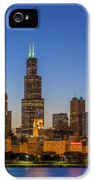 Chicago Skyline iPhone 5 Cases - Willis Tower iPhone 5 Case by Sebastian Musial