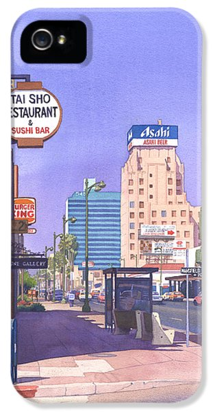 Wilshire Blvd At Mansfield IPhone 5 / 5s Case by Mary Helmreich