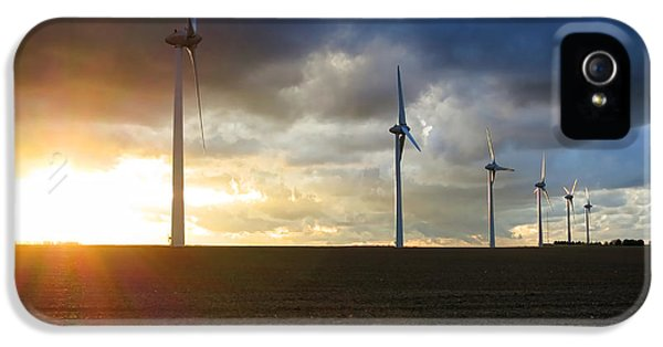 Windmill iPhone 5 Cases - Wind and Sun iPhone 5 Case by Olivier Le Queinec