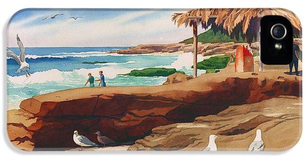 Hut iPhone 5 Cases - Wind n Sea Beach La Jolla California iPhone 5 Case by Mary Helmreich