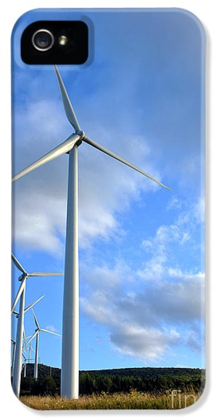 Windmill iPhone 5 Cases - Wind Turbine Farm iPhone 5 Case by Olivier Le Queinec