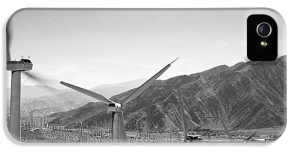 Fuel And Power Generation iPhone 5 Cases - Wind Turbines On A Landscape iPhone 5 Case by Panoramic Images