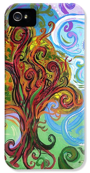 Gaia iPhone 5 Cases - Winding Tree iPhone 5 Case by Genevieve Esson