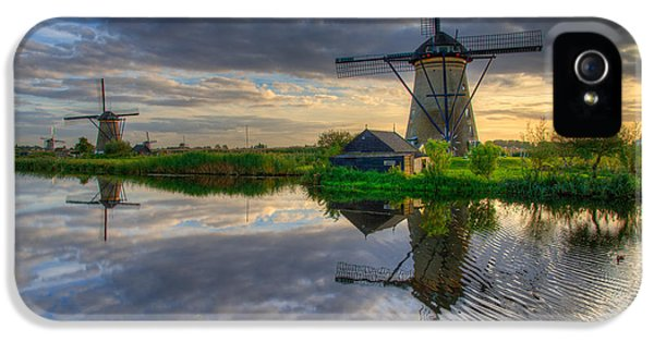 Windmill iPhone 5 Cases - Windmills iPhone 5 Case by Chad Dutson