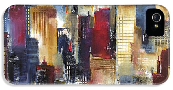 Windy City Nights IPhone 5 / 5s Case by Kathleen Patrick