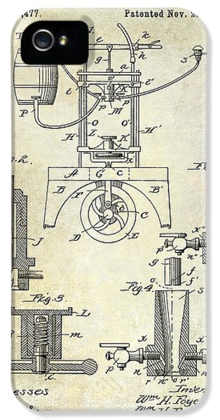 Patent iPhone 5 Cases - 1890 Wine bottling Machine iPhone 5 Case by Jon Neidert