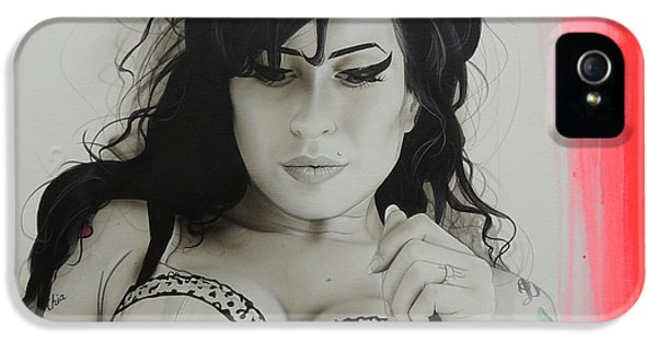Amy Winehouse - 'winehouse' IPhone 5 / 5s Case by Christian Chapman Art