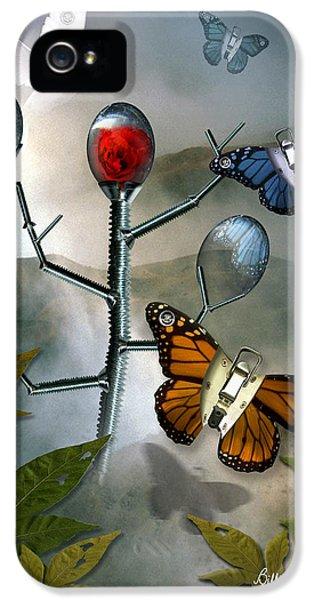 Man iPhone 5 Cases - Winged Metamorphose iPhone 5 Case by Billie Jo Ellis