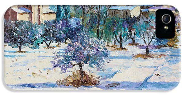 Jeans iPhone 5 Cases - Winter in Lourmarin iPhone 5 Case by Jean-Marc Janiaczyk