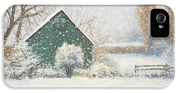Barn iPhone 5 Cases - Winter Magic iPhone 5 Case by Lucie Bilodeau