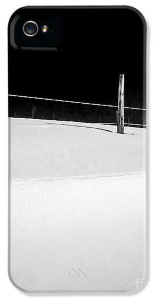 Black Snow iPhone 5 Cases - Winter Minimalism Black and White iPhone 5 Case by Edward Fielding