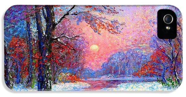 Winter Nightfall, Snow Scene  IPhone 5 / 5s Case by Jane Small