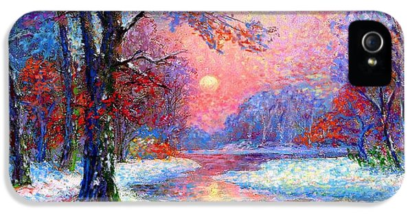 Colourful iPhone 5 Cases - Winter Nightfall iPhone 5 Case by Jane Small