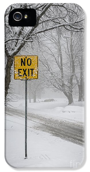 Condition iPhone 5 Cases - Winter road during snowfall II iPhone 5 Case by Elena Elisseeva