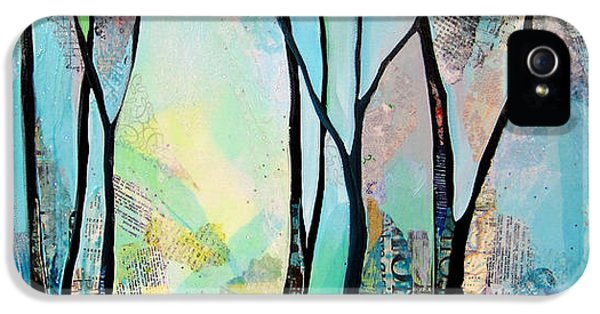 Blue Trees iPhone 5 Cases - Winter Wanderings I iPhone 5 Case by Shadia Zayed