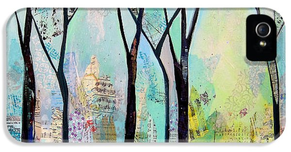 Blue Trees iPhone 5 Cases - Winter Wanderings II iPhone 5 Case by Shadia Zayed