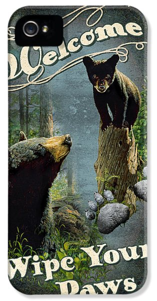 Cubs iPhone 5 Cases - Wipe Your Paws iPhone 5 Case by JQ Licensing
