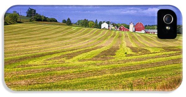 Farmland iPhone 5 Cases - Wisconsin Dawn iPhone 5 Case by Joan Carroll