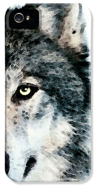 Gray iPhone 5 Cases - Wolf Art - Timber iPhone 5 Case by Sharon Cummings