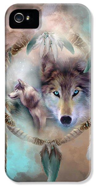 Wolf - Dreams Of Peace IPhone 5 / 5s Case by Carol Cavalaris