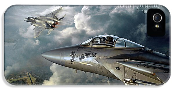 Mcdonnell Douglas iPhone 5 Cases - Wolfhounds iPhone 5 Case by Peter Van Stigt